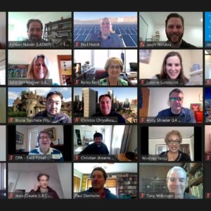 Screen grab of Advisory Group and staff